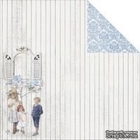 Лист двусторонней скрапбумаги Fabscraps - Shabbylicious Double-Sided Cardstock - Little Darlings, 30х30 см