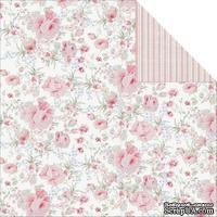 Лист двусторонней скрапбумаги Fabscraps - Shabbylicious Double-Sided Cardstock - Chic Pinks, 30х30 см