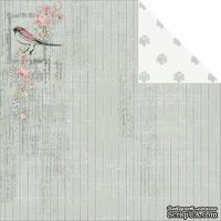 Лист двусторонней скрапбумаги Fabscraps - Shabbylicious Double-Sided Cardstock - Shabby Birds, 30х30 см