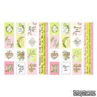 Набор полос с карточками и тегами для декорирования Spring blossom, ТМ Фабрика Декора
