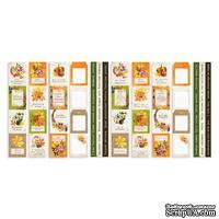 Набор полос с картинками для декорирования Botany autumn redesign, ТМ Фабрика Декора