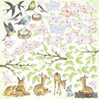 Лист с карточками для вырезания Smile of spring, ТМ Фабрика Декору
