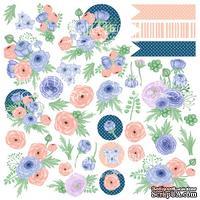 Лист с карточками для вырезания. Набор Flower mood, ТМ Фабрика Декора