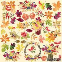 Лист с картинками для вырезания Autumn, ТМ Фабрика Декору