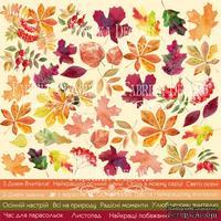 Лист с картинками для вырезания Autumn - UKR, ТМ Фабрика Декору