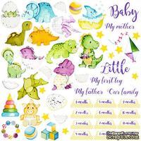 Лист с картинками для вырезания Dino baby, ТМ Фабрика Декору