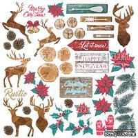 Лист с карточками для вырезания Christmas fairytales, ТМ Фабрика Декору