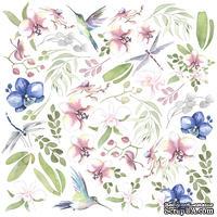 Лист с картинками для вырезания Tender orchid, ТМ Фабрика Декору