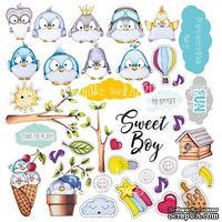Лист с картинками для вырезания My tiny sparrow boy, ТМ Фабрика Декору