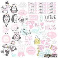 Лист с картинками для вырезания Scandi Baby Girl, ТМ Фабрика Декору