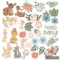 Лист с картинками для вырезания Baby&Mama, ТМ Фабрика Декору