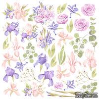 Лист с картинками для вырезания Majestic Iris, ТМ Фабрика Декора