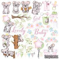 Лист с картинками для вырезания Puffy Fluffy Girl, ТМ Фабрика Декору