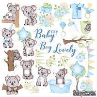 Лист с картинками для вырезания Puffy Fluffy Boy, ТМ Фабрика Декору