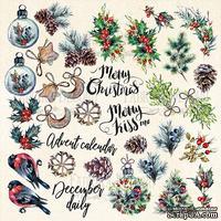 Лист с картинками для вырезания The spirit of Christmas, ТМ Фабрика Декору