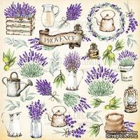 Лист с картинками для вырезания. Набор Lavender Provence, ТМ Фабрика Декору