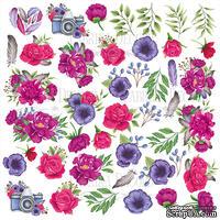 Лист с картинками для вырезания. Набор Mind Flowers, ТМ Фабрика Декору