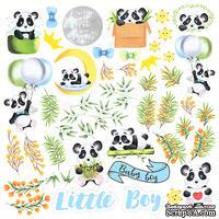 Лист с картинками для вырезания. Набор My little panda boy, ТМ Фабрика Декору