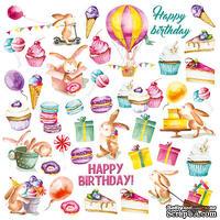 Лист с картинками для вырезания Sweet Birthday, ТМ Фабрика Декора