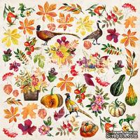 Лист с картинками для вырезания Botany autumn redesign, ТМ Фабрика Декора