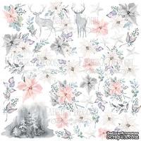 Лист с картинками для вырезания. Набор Winter melody, ТМ Фабрика Декору