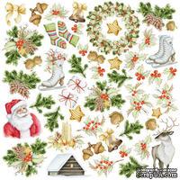 Лист с картинками для вырезания. Набор Awaiting Christmas, ТМ Фабрика Декору
