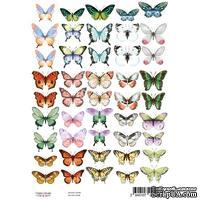 Набор картинок для декорирования Бабочки 1 А4, ТМ Фабрика Декору