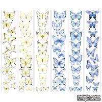 Набор полос с картинками для декорирования Бабочки 3, ТМ Фабрика Декору