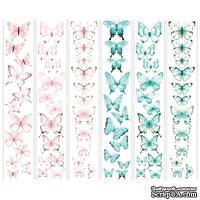 Набор полос с картинками для декорирования Бабочки 4, ТМ Фабрика Декору