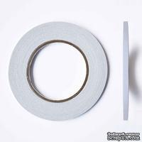 Профессиональный двухсторонний тонкий скотч, 6 мм х 50 м - ScrapUA.com