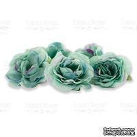 Цветы розы Мятные с фиолетовым 1шт, ТМ Фабрика Декора