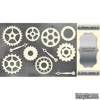Набор чипбордов ТМ Фабрика Декора FDCH-167-2, цвет серебряный