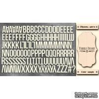 Набор чипбордов TM Fabrika Decoru Алфавит английский, FDCH-277, цвет молочный