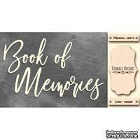 Набор чипбордов TM Fabrika Decoru Book of memories, FDCH-281, цвет молочный