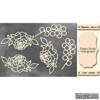 Набор чипбордов Розы 339, цвет молочный, ТМ Фабрика Декора