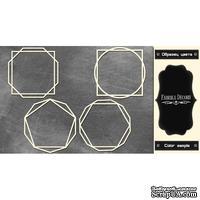 Набор чипбордов Рамки - геометрия 1 #374 color_Black, ТМ Фабрика Декору