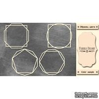 Набор чипбордов Рамки - геометрия 1 #374 color_Milk, ТМ Фабрика Декору