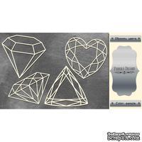 Набор чипбордов Кристаллы 2 #375 color_Silver, ТМ Фабрика Декору