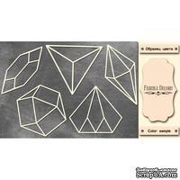 Набор чипбордов Кристаллы 3 #376 color_Milk, ТМ Фабрика Декору