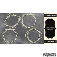 Набор чипбордов Рамки - геометрия 2 #378 color_Black, ТМ Фабрика Декору