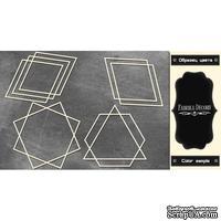 Набор чипбордов Рамки - геометрия 3 #379 color_Black, ТМ Фабрика Декору