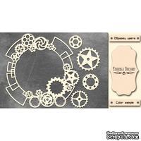 Набор чипбордов Рамка - стимпанк 1 #390 color_Milk, ТМ Фабрика Декору