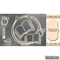 Набор чипбордов Круглая школьная рамка 2 #476 color_Milk, ТМ Фабрика Декору