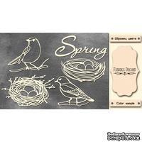 Набор чипбордов Spring 494, цвет молочный, ТМ Фабрика Декора