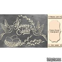 Набор чипбордов Happy Easter 495, цвет молочный, ТМ Фабрика Декора