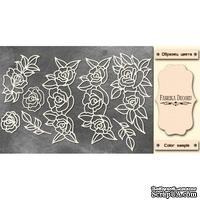 Набор чипбордов Ажурные розы 551, 10х15 см, цвет молочный, ТМ Фабрика Декора