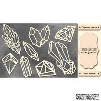 Набор чипбордов Кристаллы 592, цвет молочный, ТМ Фабрика Декора