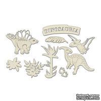 Набор чипбордов Dinosauria 10х15 см 680, цвет молочный, ТМ Фабрика Декора