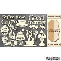 Чипборд Фабрика Декору - Coffee time, цвет молочный, крафт