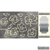 Чипборд Фабрика Декору - Magnolia sky 1, цвет серебро